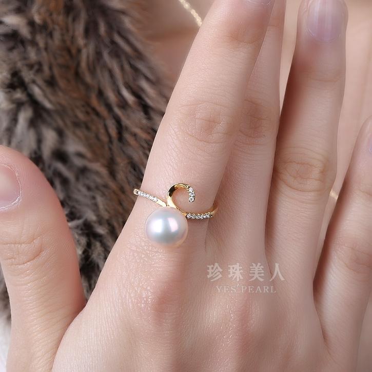 粉色淡水珍珠戒指【天佑】