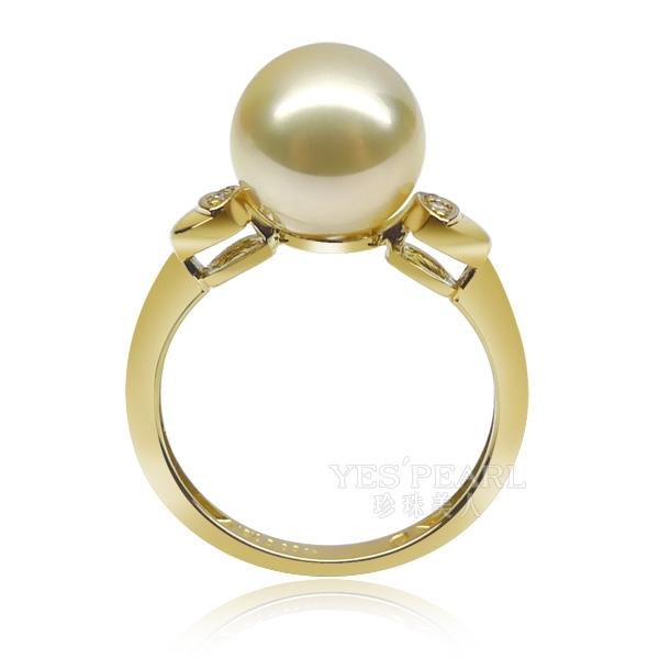 金色南洋珍珠戒指