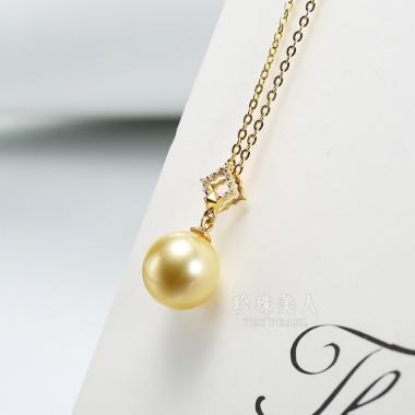 淡金色南洋珍珠吊坠【星梦传奇】