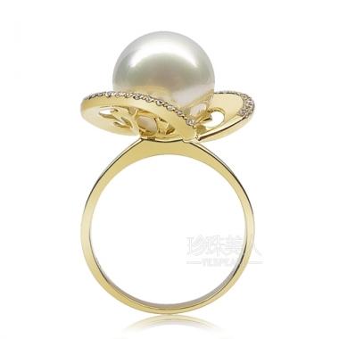 白色南洋珍珠戒指【清雅】