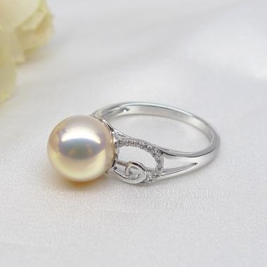 粉色淡水珍珠戒指【伶月锦】